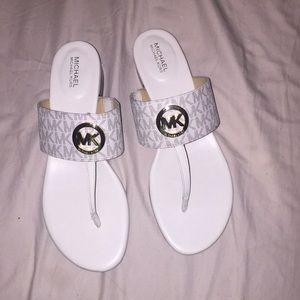 New Michael Kors White Sandals